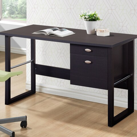 CorLiving Folio Black Espresso Filing Drawer Desk