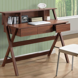 CorLiving Folio Three-drawer Desk with Low Profile Hutch