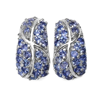 Malaika 1.79 Carat Genuine Tanzanite .925 Sterling Silver Earrings