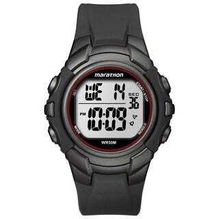Timex T5K642M6 Men's Marathon Digital Full-size Gunmetal Grey/ Red Watch|https://ak1.ostkcdn.com/images/products/9941294/P17096404.jpg?_ostk_perf_=percv&impolicy=medium