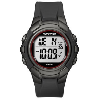 Timex Men's Marathon Digital Full-size Gunmetal Grey/ Red Watch