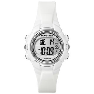 Timex T5K806M6 Unisex Marathon Digital Mid-Size White Watch