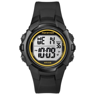 Timex T5K818M6 Men's Marathon Digital Full-size Black/ Yellow Watch