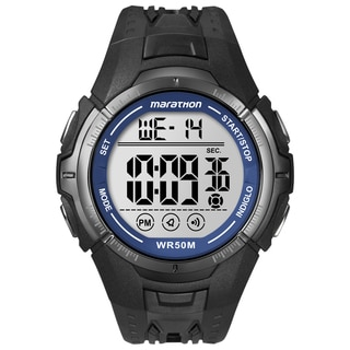 Timex T5K359M6 Men's Marathon Digital Full-size Black/ Blue Watch