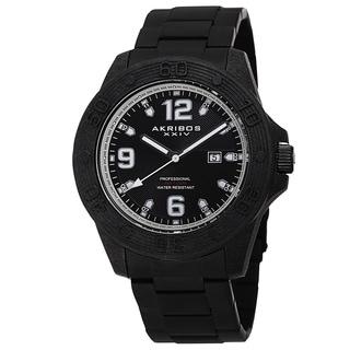 Akribos XXIV Men's Quartz Divers Stainless Steel White Bracelet Watch with Gift Box