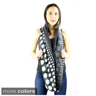 Le Nom Women's Small Big Polka Dot Infinity Scarf