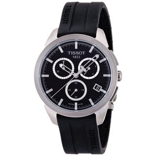 Tissot Men's T0694174705100 T-Sport Round Black Rubber Strap Watch