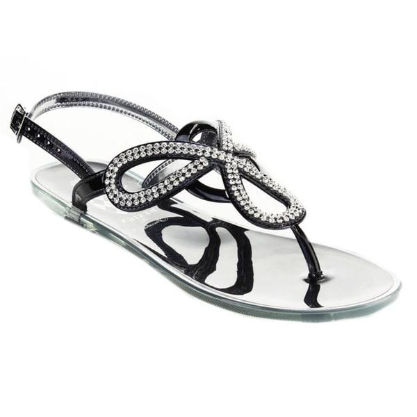 b09d4ea8cdfa Shop Jacobies Women s Jelly-11-JA Rhinestone Thong Sandals - Free ...