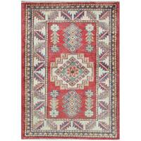 Herat Oriental Afghan Hand-knotted Tribal Super Kazak Wool Rug (2'1 x 3') - 2'1 x 3'