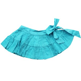 Azul Swimwear Girls' Turquoise Sash Skirt