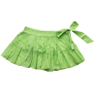 Azul Swimwear Green Sash Skirt