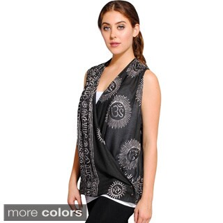 Women's Om Sleeveless Vest (3 options available)