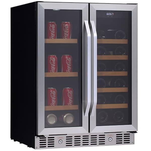 Beau Edgestar CWB1760FD 24 Inch Built In Wine And Beverage Cooler With French  Doors