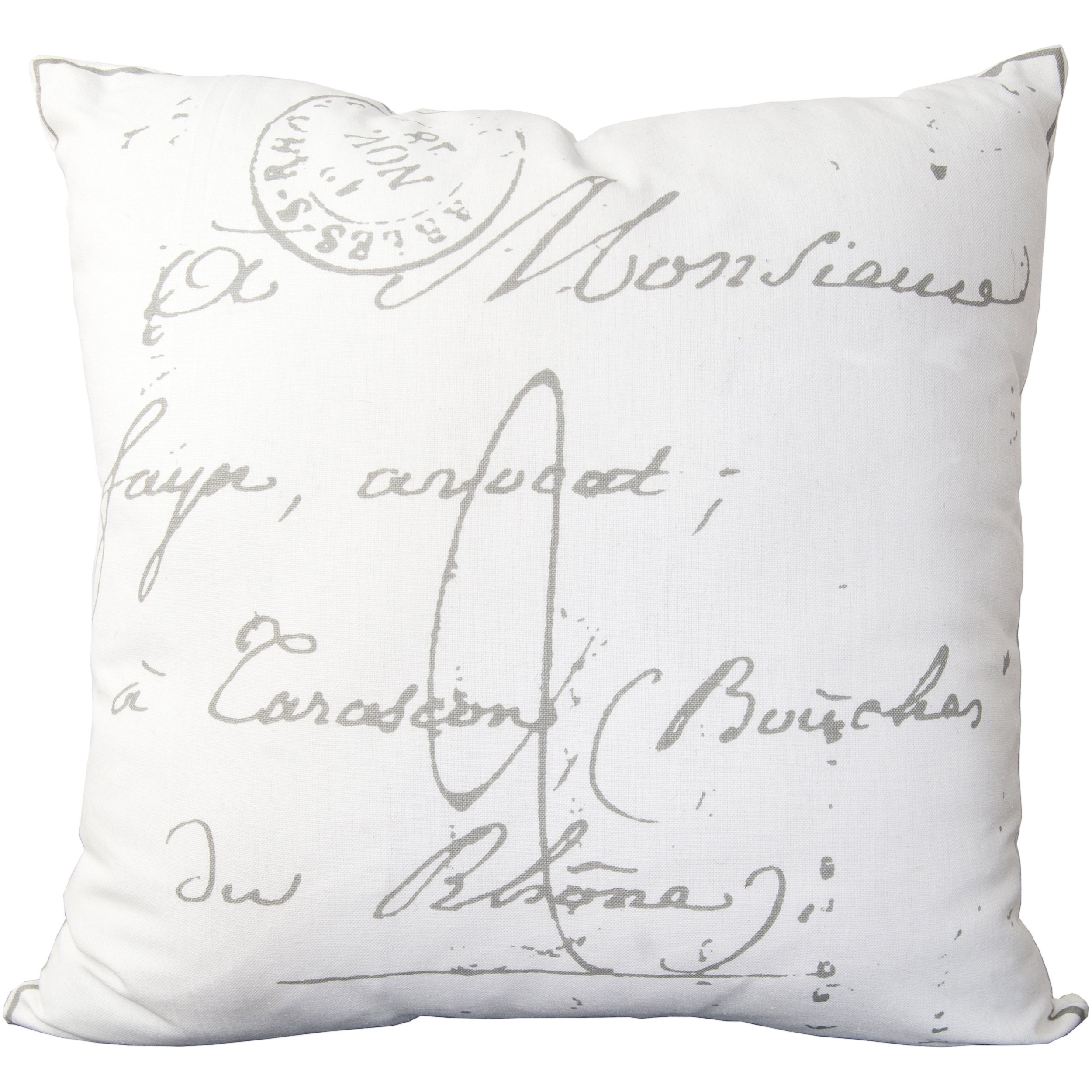 Erskine 18-inch French Script Throw Pillow