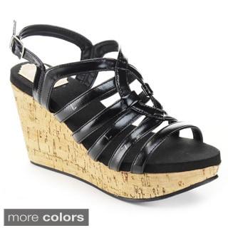 Jacobies Women's 'Riva-15' Platform Ankle Strap Wedges