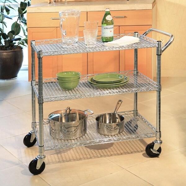 Superieur Seville Classics 3 Shelf UltraZinc Commercial Utility Cart
