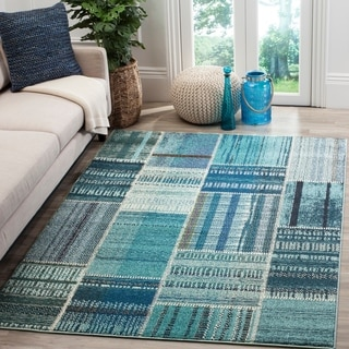 Safavieh Monaco Bohemian Patchwork Blue/ Multicolored Rug (9' x 12')