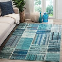 Safavieh Monaco Bohemian Patchwork Blue/ Multicolored Rug - multi - 9' x 12'