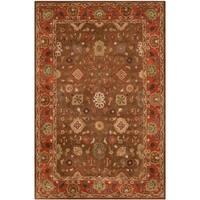 Safavieh Handmade Heritage Timeless Traditional Moss/ Rust Wool Rug (6' x 9')