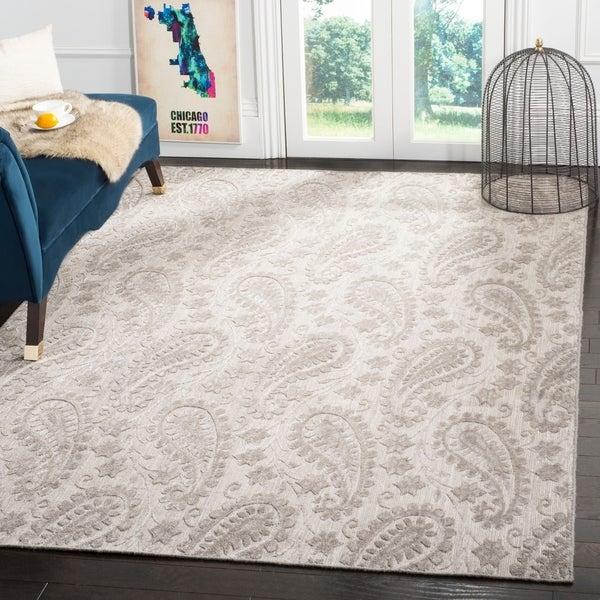 Safavieh Handmade Mirage Paisley Grey Wool/ Viscose Rug - 9' x 12'
