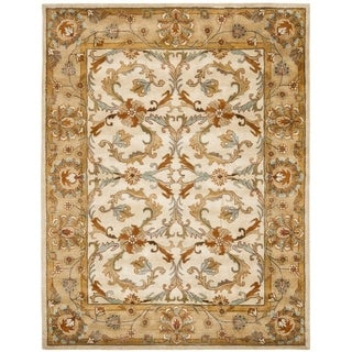 Safavieh Handmade Heritage Timeless Traditional Beige/ Gold Wool Rug (8'3 x 11')