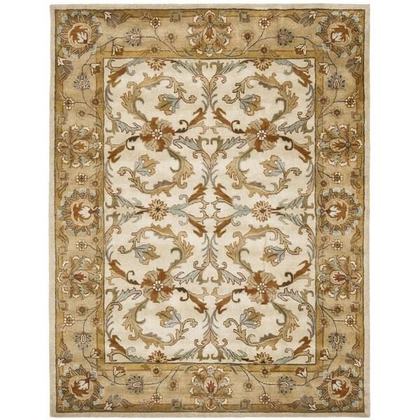 Safavieh Handmade Heritage Timeless Traditional Beige/ Gold Wool Rug (8'3 x 11')
