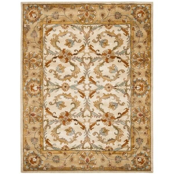 "Safavieh Handmade Heritage Timeless Traditional Beige/ Gold Wool Rug - 8'-3"" X 11'"