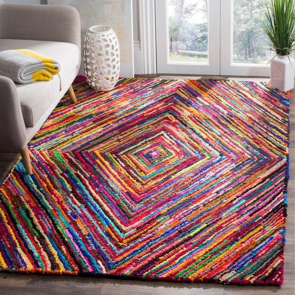 Safavieh Handmade Nantucket Modern Abstract Multicolored Cotton Rug - multi - 6' x 9'