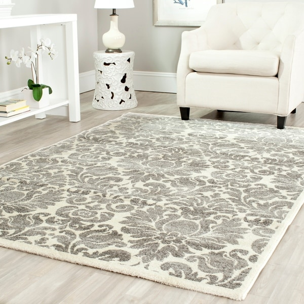 Safavieh Porcello Glam Damask Grey/ Ivory Rug - 9' x 12'