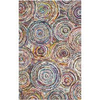 Safavieh Handmade Nantucket Modern Abstract Multicolored Cotton Rug (9' x 12')