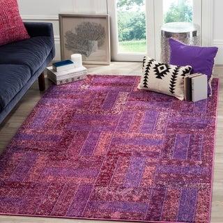 Safavieh Monaco Purple/ Multicolored Rug (6'7 x 9'2)