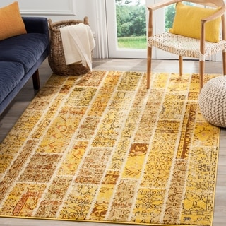 Safavieh Monaco Patchwork Yellow/ Multicolored Rug (9' x 12')