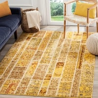 Safavieh Monaco Patchwork Yellow/ Multicolored Rug - 9' x 12'