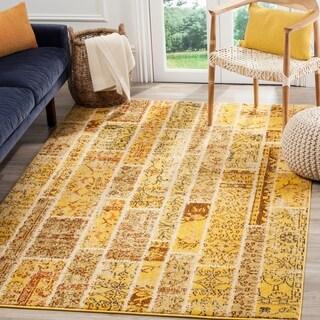 Safavieh Monaco Patchwork Yellow/ Multicolored Rug (9' x 12')