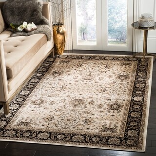 Safavieh Persian Garden Ivory/ Black Viscose Rug (6'7 x 9'2)