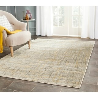 Safavieh Porcello Modern Abstract Grey/ Gold Rug (9' x 12')