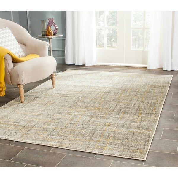Safavieh Porcello Modern Abstract Grey/ Gold Rug - 9' x 12'