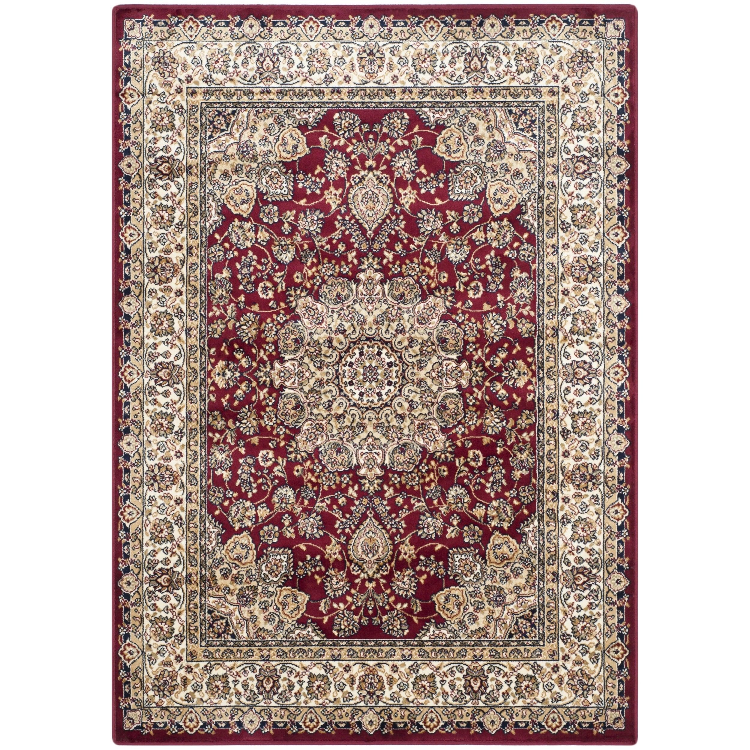 Safavieh Persian Garden Red/ Ivory Viscose Rug (6'7 x 9'2...