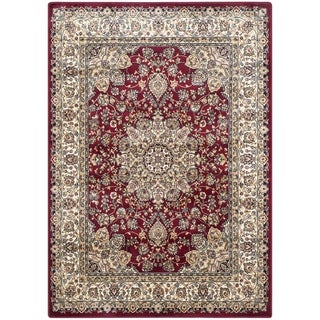 Safavieh Persian Garden Red/ Ivory Viscose Rug (6'7 x 9'2)