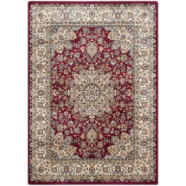 Safavieh Persian Garden Red/ Ivory Viscose Rug (6'7 x 9'2)