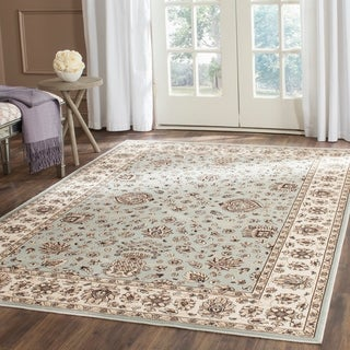 Safavieh Persian Garden Light Blue/ Ivory Viscose Rug (6'7 x 9'2)