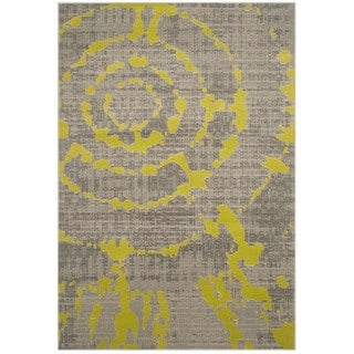 Safavieh Porcello Abstract Contemporary Light Grey/ Green Rug (6' x 9')