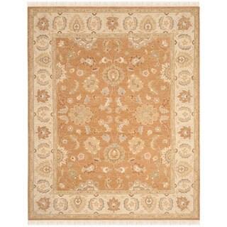 Safavieh Hand-Woven Sumak Gold/ Ivory Wool Rug (9' x 12')
