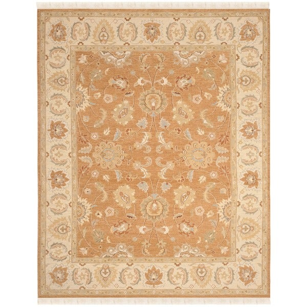 Safavieh Hand-Woven Sumak Gold/ Ivory Wool Rug - 9' x 12'