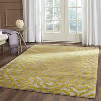 Safavieh Porcello Contemporary Moroccan Light Grey/ Green Rug - 6' x 9'
