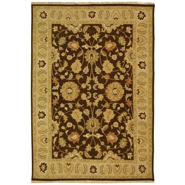 Safavieh Hand-Woven Sumak Brown/ Beige Wool Rug - 9' x 12'