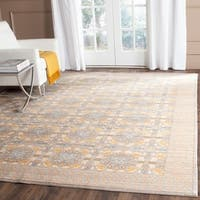 Safavieh Valencia Light Grey/ Multi Distressed Silky Polyester Rug - 9' x 12'