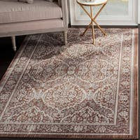 Safavieh Valencia Grey/ Brown Distressed Silky Polyester Rug - 9' x 12'