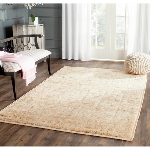 Safavieh Hand-Knotted Tangier Ivory/ Beige Wool/ Jute Rug - 9' x 12'