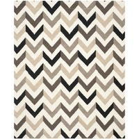 Safavieh Hand-Tufted Cambridge Ivory/ Black Wool Rug - 10' x 14'